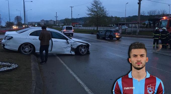 Trabzonsporlu futbolcu kaza yaptı!