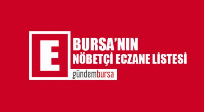 Bursa'daki nöbetçi eczaneler (12 Haziran 2019)