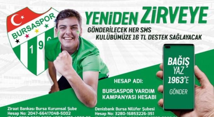 İşte Bursaspor için atılan SMS sayısı!