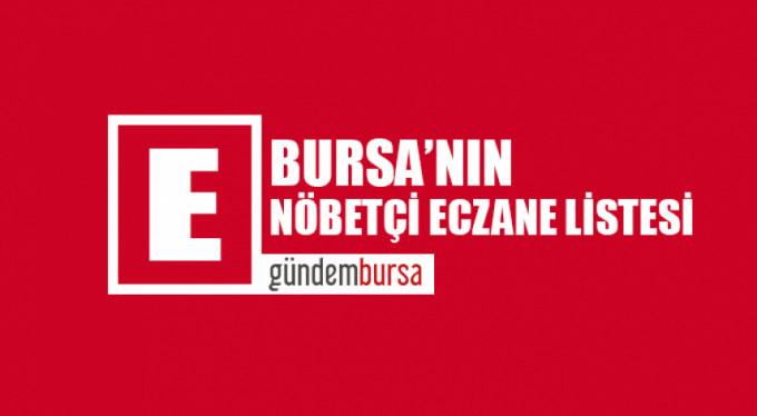 Bursa'daki nöbetçi eczaneler (9 Eylül 2019)