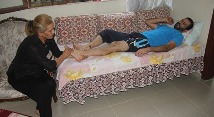 Bacağına beton düştü, hayatı karardı!