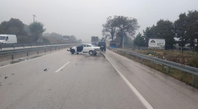 Bursa'da yağmur kaza getirdi!