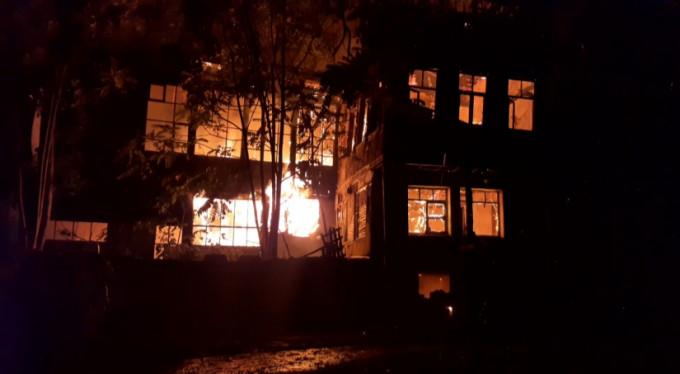 Bursa'da tarihi pazarda yangın paniği!