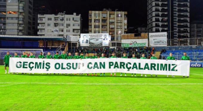 Bursaspor'dan anlamlı pankart!