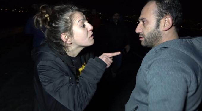 Sevgilisi vuruldu, muhabire yumruk attı!
