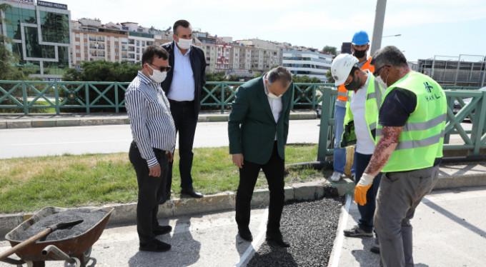 Bursa'nın ana yolları yenilendi
