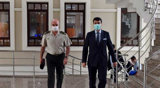 Komutanlardan Mustafa Dündar'a Ziyaret