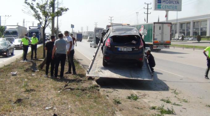 Bursa-Ankara yolunda kaza! Yaralılar var