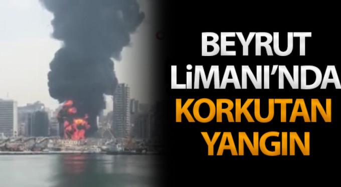Beyrut'ta korkutan yangın