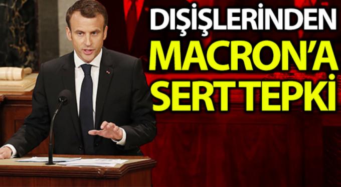 Dışişlerinden Macron'a tepki