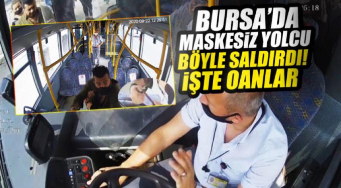 Bursa'da otobüsteki bıçaklı maske kavgası kamerada