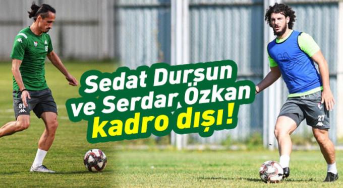 Bursaspor'da iki futbolcu kadro dışı