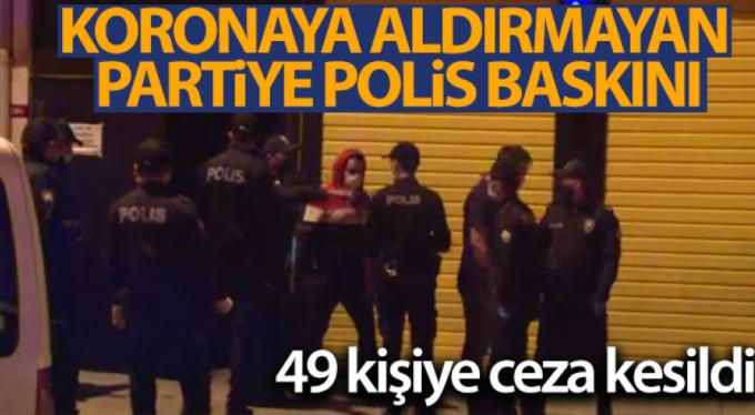 Partiyi polis bastı