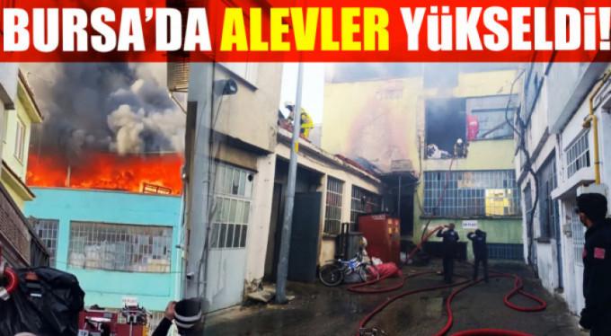 Bursa'da alev alev yandı