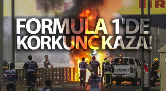 Formula 1 Grand Prix'sinde korkutan kaza