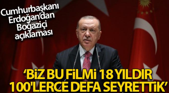 Cumhurbaşkanı'ndan Boğazçi açıklaması