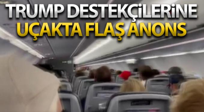 Pilottan Trump destekçisi yolculara tehdit
