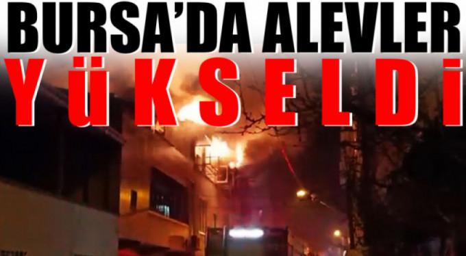 Bursa'da alevler yükseldi