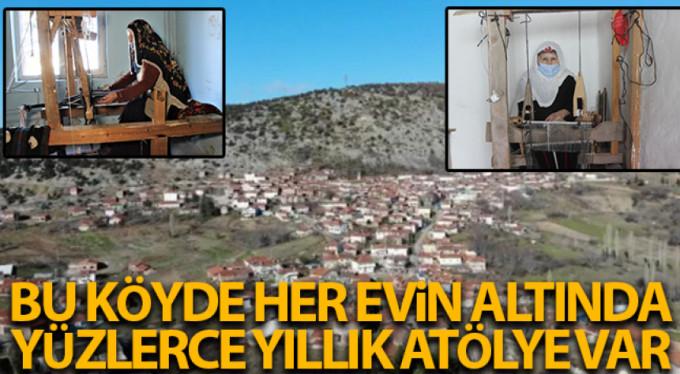 Bu köyde her evin altında yüzlerce yıllık atölye var