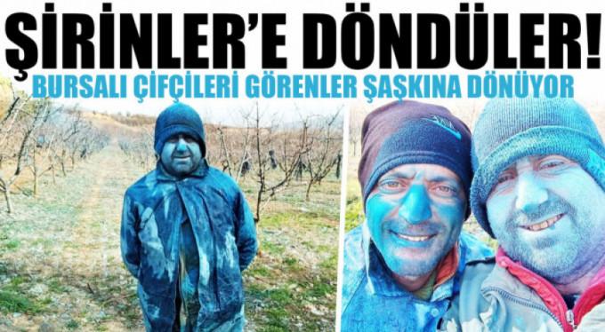 Bursa'da şirinlere dönüşen köylüleri gören şaşırdı