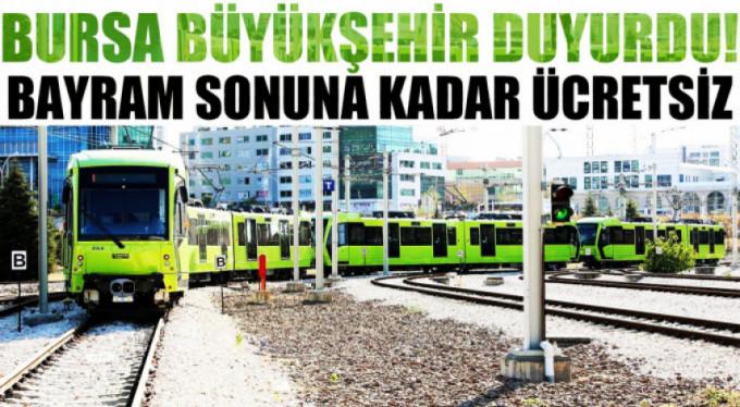 Bursa'da sağlıkçılara ulaşım bayram sonuna kadar ücretsiz
