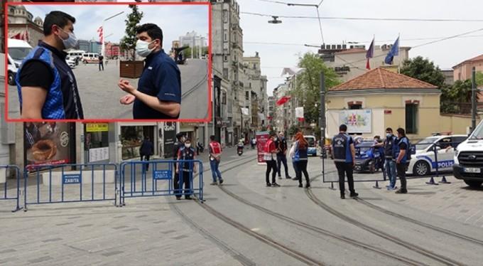 Polisten turiste ceza: Benim vatandaşım evde oturuyorsa sen de evinde oturacaksın