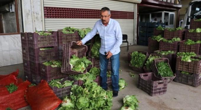 Pazarlar kapandı, tonlarca meyve sebze çürüyor