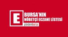 Bursa'daki nöbetçi eczaneler (23 Temmuz 2019)