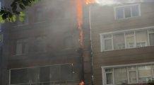 6 katlı bina alev alev yandı!