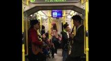 Bursa'da metroda müzik ziyafeti